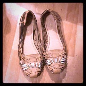 Shoes - Huaraches/flats woven Sandals Ethnic slip beige